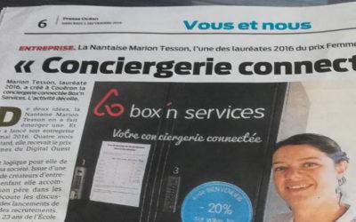 Presse Océan met en avant box'n services et l'association Femmes du Digital Ouest